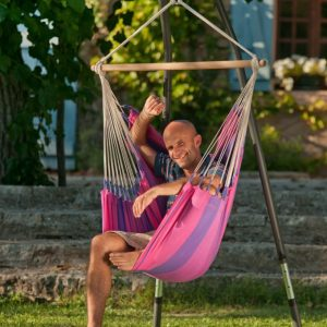 HAMMOCK STAND CHAIR, POWER COATED STEEL